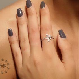 טבעת שרשרת עם נחש משובץ בזירקונים