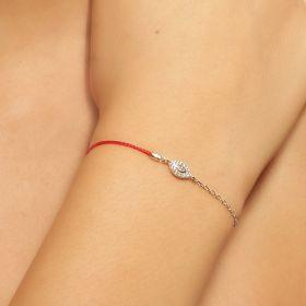 צמיד עין משולב עם חוט אדום  ושרשרת