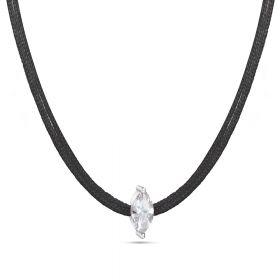 צוקר חוט שחור זרקון אליפסה