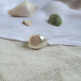 טבעת חותם עיגול