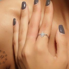טבעת שרשרת כוכב משובץ בזירקונים